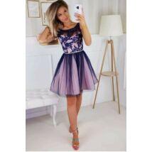 Puder-Kék csipkés ruha