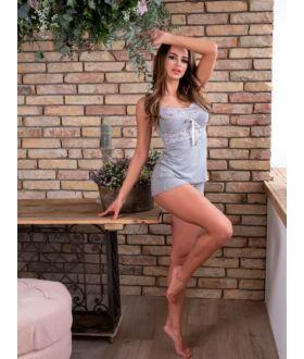 Csipkés rövid pizsama