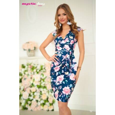 Mystic Day púder rózsás Betty  molett ruha