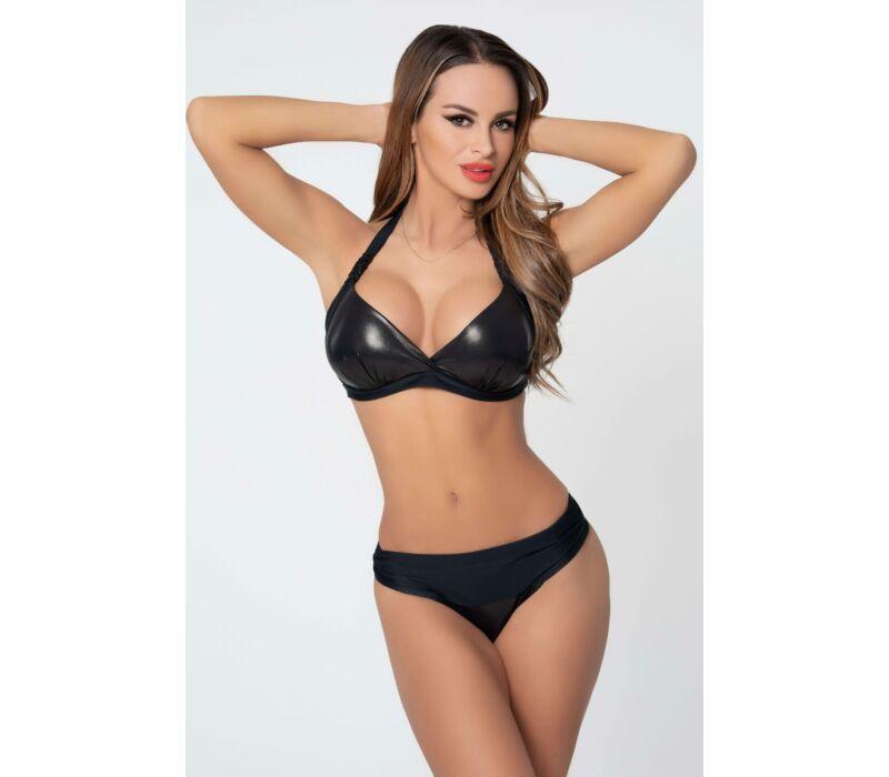 Corse metál fekete bikini